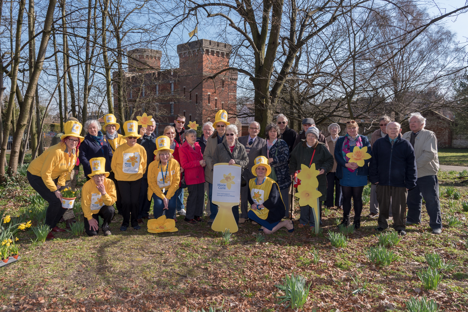 Daffodil Day celebrations outside the Suffolk Regiment Museum
